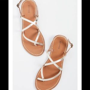 Soludos Gold Zoe Strappy Sandals-Brand New